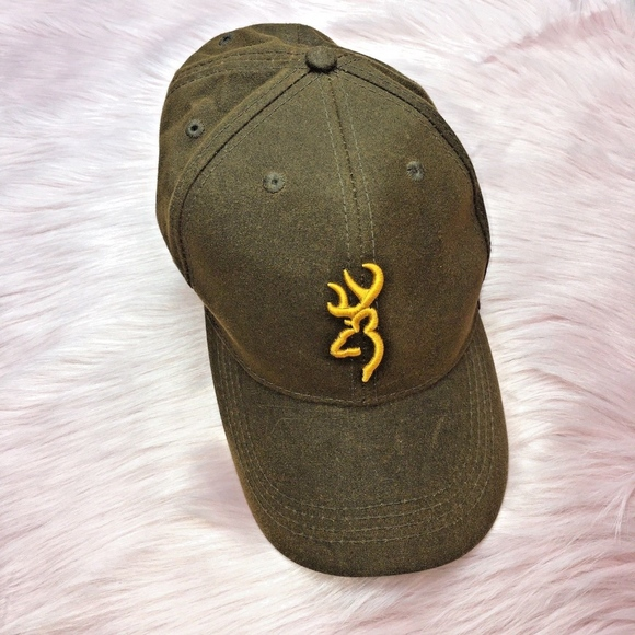 8affea2c077f60 Browning Accessories   Logo Baseball Cap Olive Green Adjustable ...